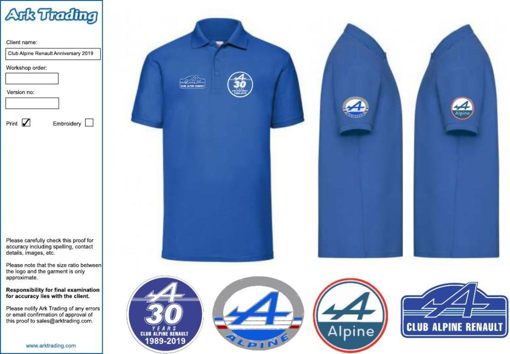 30th Anniversary Polo Shirts